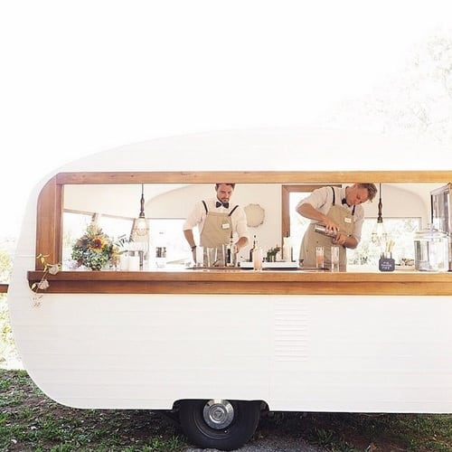 Creative drinks bar for weddings, on the Knot & Pop blog, UK wedding planners