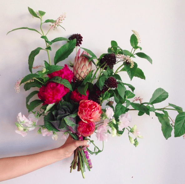 A gorgeous wild bouquet for Autumn weddings on the Knot & Pop blog
