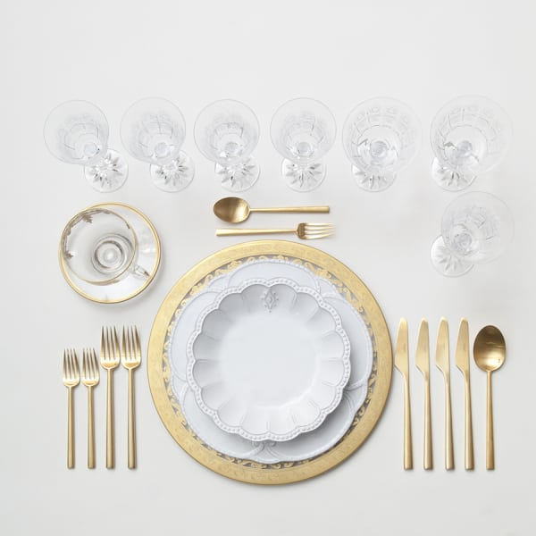 A baroque inspired table setting, perfect for wedding s