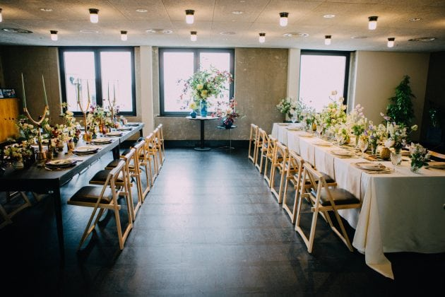 Amazing rooftop London wedding venue, Ace Hotel. Planning and styling by Knot & Pop