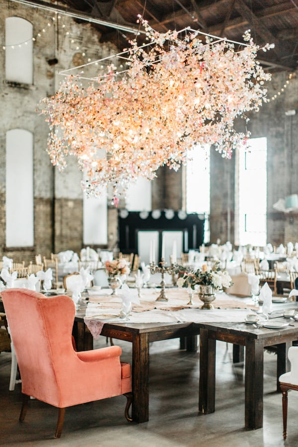 Wedding dinning chandelier decor