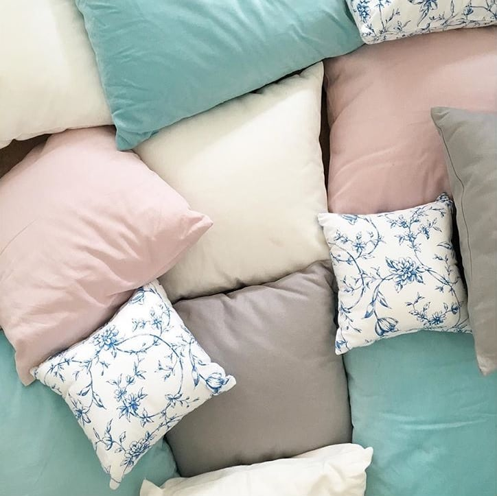Coloured cushions, perfect for wedding reception decor