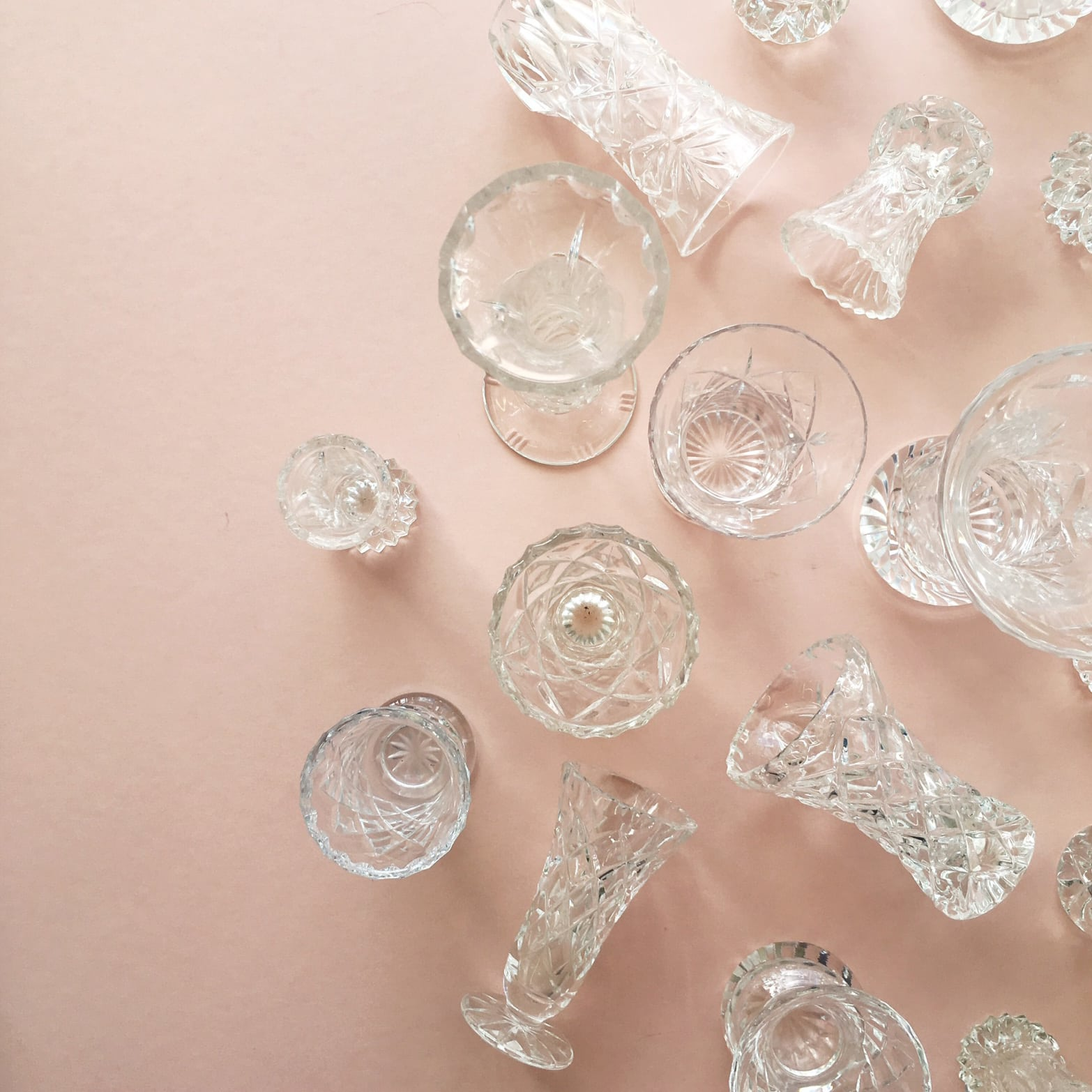 Cut glass wedding props and vases from London based wedding planners