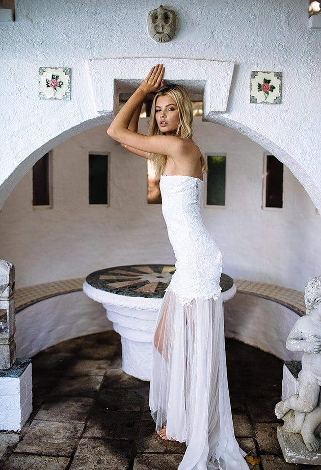 Grace Loves Lace wedding dress and bohemian wedding style
