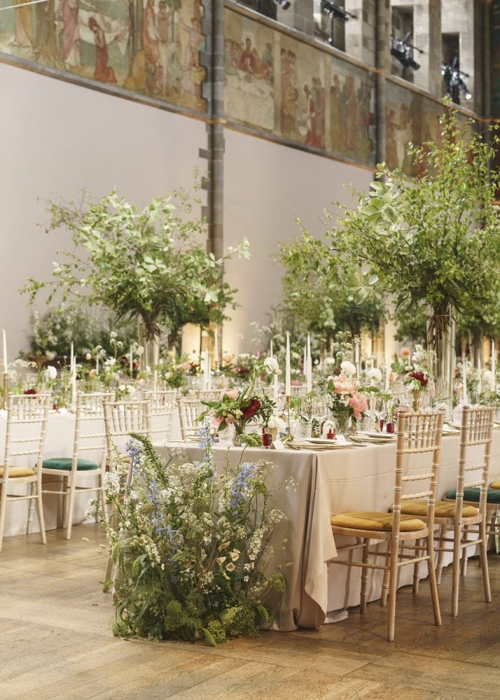 A Scottish wedding in Edinburgh with flower meadow theme by wedding planners Knot & Pop