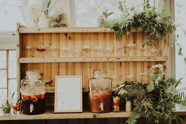 Scottish drinks wedding station on Mull, planned and styled by Knot & Pop with photography by India Earl