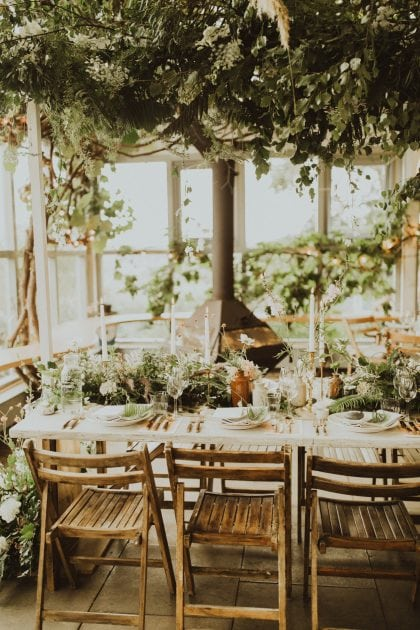 Scottish magical wedding tablescape on Mull, planned and styled by Knot & Pop with photography by India Earl