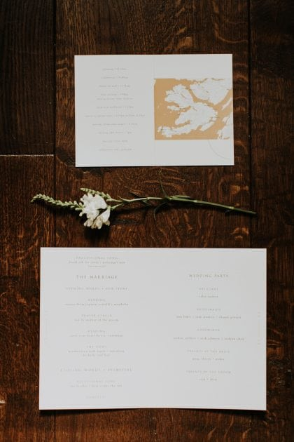 Wedding stationery for a Scottish wedding on Mull, planned by Knot & Pop