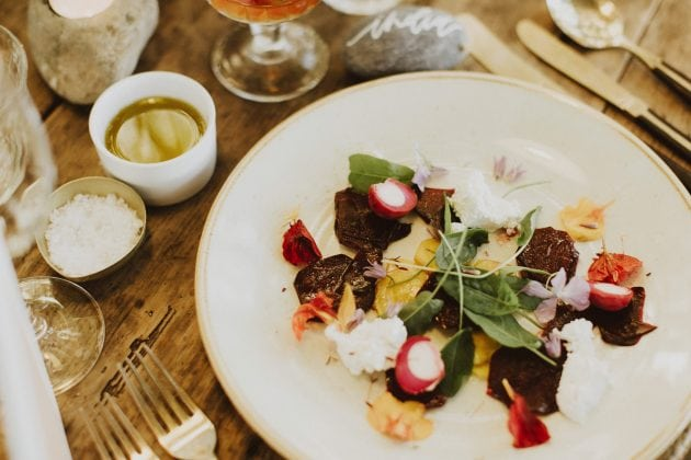 Wedding food and taster menu for a wedding on Mull in Scotland, planned by Knot & Pop and photography by India Earl