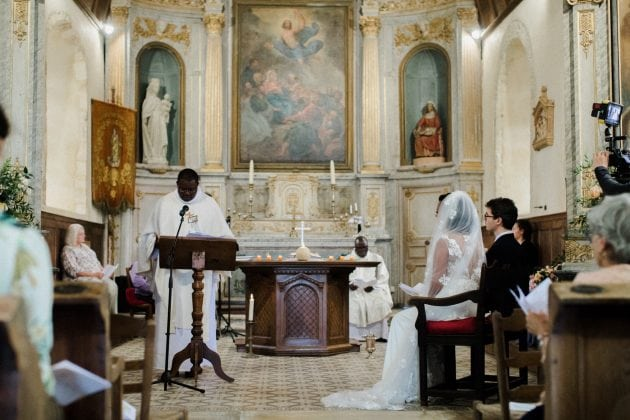 Church wedding in Normandy France