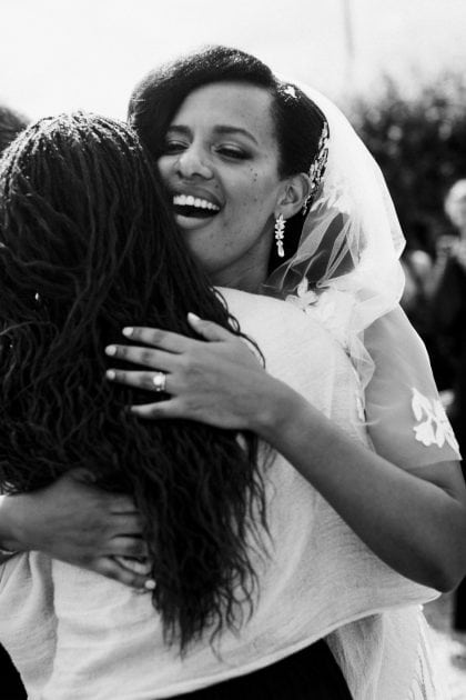 Bridal hug at a wedding in Normandy France