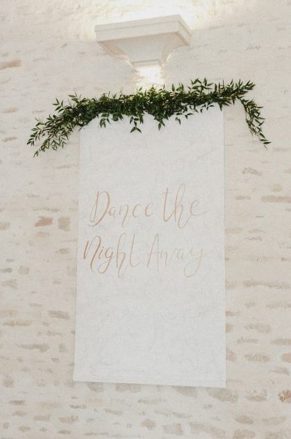 Marble and gold signage at a wedding in Normandy France by wedding stylists Knot & Pop