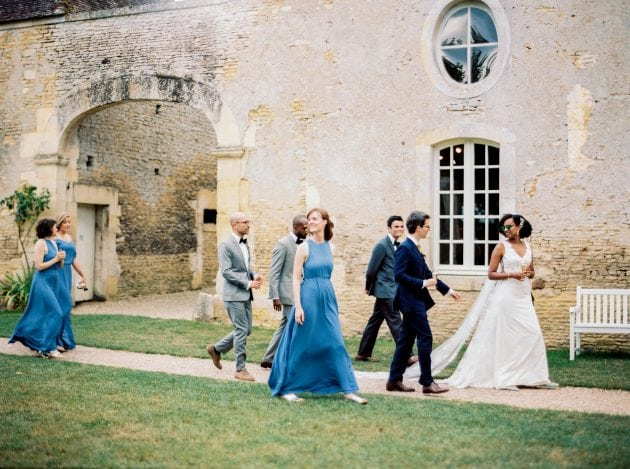 Bridesmaid and Ushers at a wedding in Normandy France