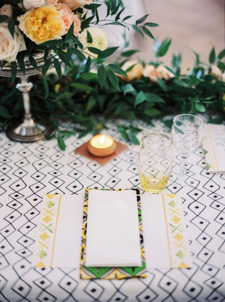 Graphic Stylish Ethiopian Wedding Melse, event design by Knot & Pop in France
