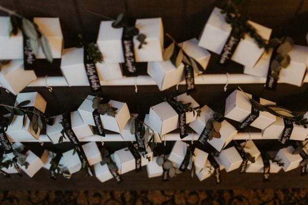 Creative table plan and favours at a Castle Winter Wedding by wedding planners and event stylists, Knot & Pop. Photography by The Hendrys.