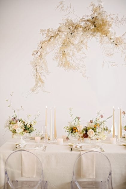 Romantic table design for weddings, Vera Wang X Wedgwood