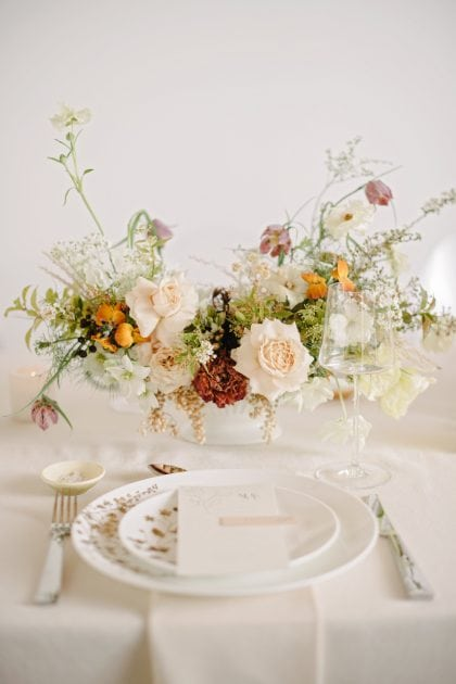 Romanticist Bride and table design.