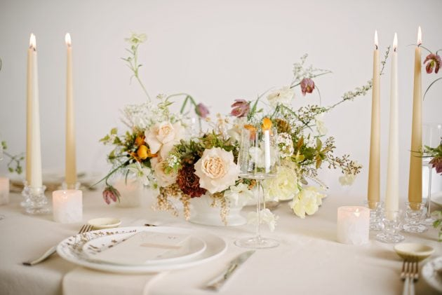 Romantic wedding look for Vera Wang X Wedgwood