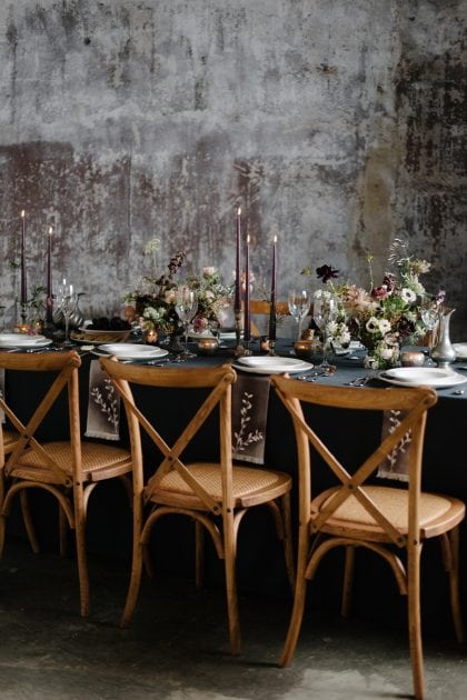 Dark Wedding Theme for Vera Wang X Wedgwood