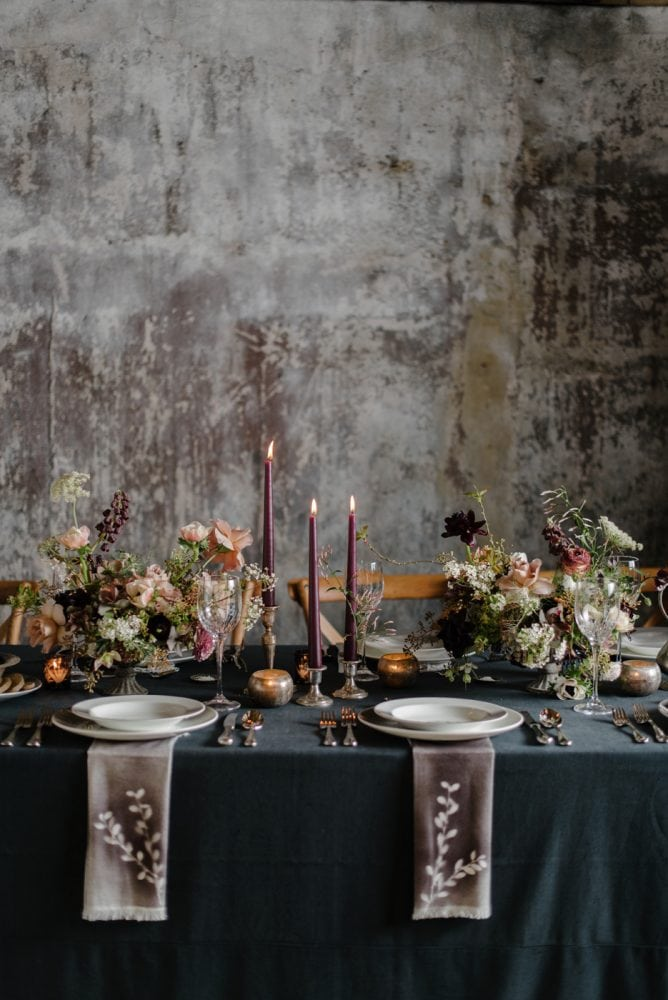 Dark Wedding Ideas for Vera Wang X Wedgwood