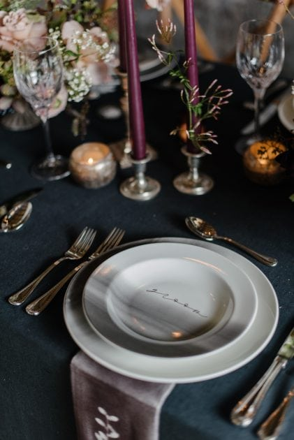 Silver and Dark Wedding Ideas for Vera Wang X Wedgwood