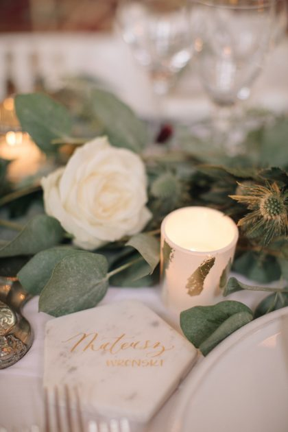 A historic London wedding with gold, marble, light blue and eucalyptus. Planned and styled by Knot & Pop. Photography by MandJ Photos