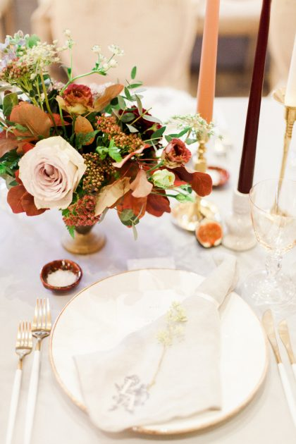A feasting inspired Autumn wedding at an English countryside Manor House. Planned and Designed by Knot & Pop.