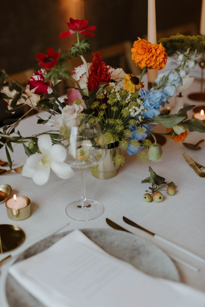 Modern Wedding Style at Ace Hotel. Concept and Styling Knot & Pop. Photography The Curries
